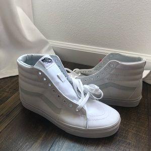 Brand new white hightop vans